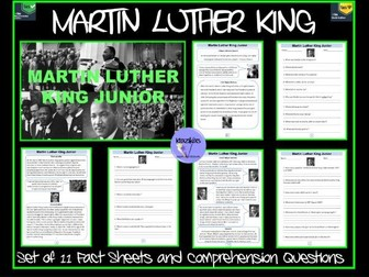 Martin Luther King - Fact Sheets and Questions