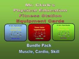 Fitness Station Cards Bundled