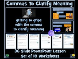 Commas To Clarify Meaning