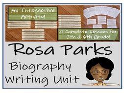 UKS2 History - Rosa Parks Biography Writing Unit