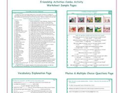 Friendship Activities Combo Activity Worksheets