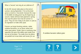 Harvest Interactive Comprehension Book - Reading Level B - Harvest KS2
