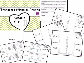 Transformation of Graphs (Foldables)