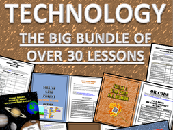 Technology Lessons Bundle:  Coding, Animation, Microsoft Office Lessons, and More!