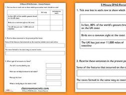 Year 3 SPAG Revision Worksheet