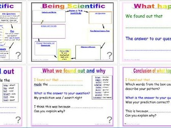 Being Scientific: Working Scientifically in Enquiry and Investigation - Analysing and Concluding