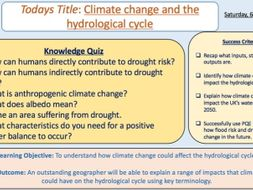 Climate Change & The Hydrological Cycle
