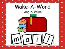 Make-A-Word  Long A Vowel