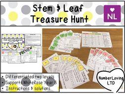 Stem and Leaf White Rose Year 9 Treasure Hunt