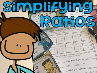 SIMPLIFYING RATIOS: DECIMAL NUMBERS:EQUIVALENT RATIOS