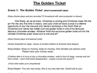 Christmas Plays For Schools.Christmas Production Script Non Religious Xmas Play The Golden Ticket