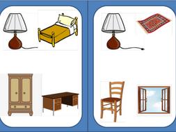 Bedroom furniture Dobble game - Muebles