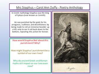 Mrs Sisyphus Carol Ann Duffy
