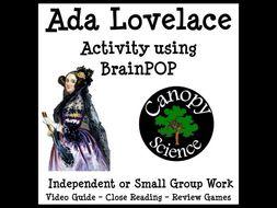 Ada Lovelace Activity using BrainPOP