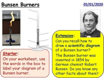 Bunsen Burners Year 7 Practical Skills lesson
