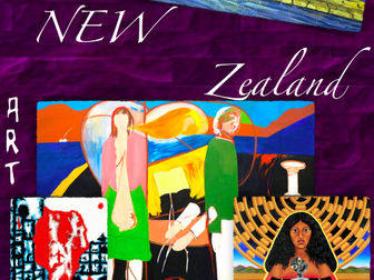 New Zealand ~ Art History ~ 211 Slides ~ Kiwi ~ Maori ~ Art