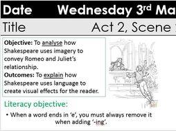Romeo And Juliet KS3 GCSE Act 2 Scene Romeos Soliloquy By ChristyJade1