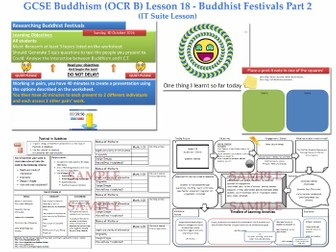 GCSE - Buddhism -Lesson 18  [Researching Buddhist Festivals: IT/ICT, Peer Assessment]