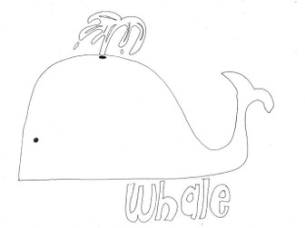 Whale (2): Animals and Pets: Colouring Page
