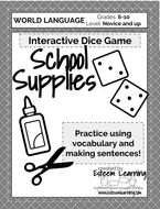 School Supplies Dice Game (any language!)