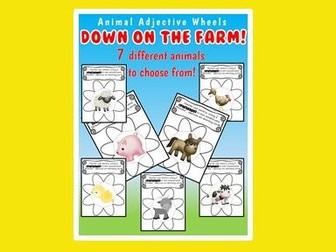 Animal Adjectives - Farm Animals - Descriptive Writing - Adjectives