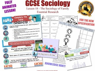 Essential Researchers - Sociology of Family L18/20 [ AQA GCSE Sociology - 8192] Evidence Research