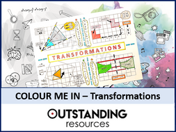 Colour Me In Sheets or Doodle Notes - Transformations (simple)