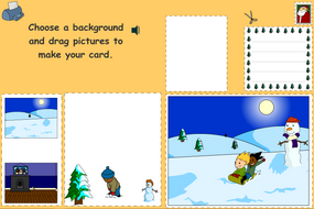 Christmas Card Designer Interactive Activity - Christmas KS1