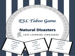 Natural Disasters - ESL Taboo Game