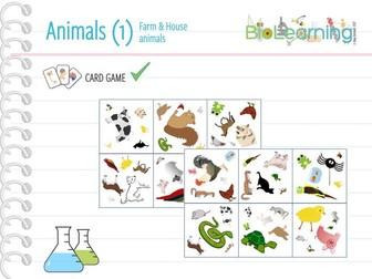 Farm & house animals - Card Game