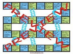 Infinitives of Purpose Chutes and Ladders Board Game
