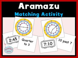 Aramazu Matching Card Activity