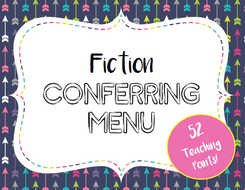 Fiction Conferring Menu - Teaching Points for Reading Conferences
