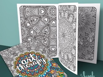 Adult Coloring Book | Art Therapy Volume 1 | 20 coloring pages | Printable PDF Coloring Book