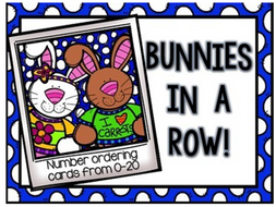 Bunny Number Ordering Cards 0-20