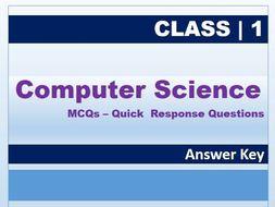Class 1: Computer Science MCQs AK.