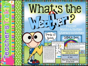 What's The Weather Part 3: Literacy and Maths Activities