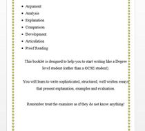 A Level Essay Writing Technique Booklet