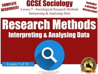 Types of Data & Data Analysis - Sociological Research Methods (GCSE Sociology L5/10)