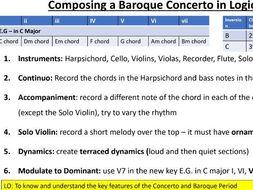 OCR GCSE: Concerto Through Time Presentation with Logic Pro X activities