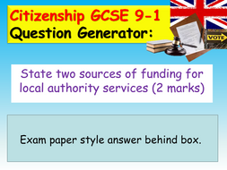 Gcse Citizenship Exam Revision By Ec Resources Teaching Resources