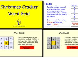 Christmas Cracker Word Grid (pdf version)