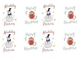 Christmas Labels.Welsh Christmas Print Out Labels Decorations