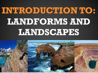 Introduction to Landforms and Landscapes