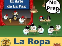 El Arte de la Paz. PowerPoint Games to Learn Spanish Vocabulary for LA ROPA.  Juegos de vocabulario