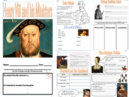 Henry Viii and his Ministers Revision Booklet
