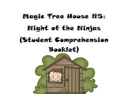 Magic Tree House Book 5: Night of the Ninjas Reading Comprehension Packet