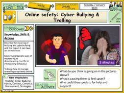 Online Safety  Cyber Bullying & Trolling