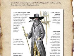 The Great Plague comprehension KS2