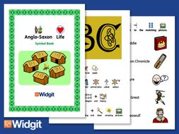 Anglo Saxons Life - History Book and Activities with Widgit Symbols